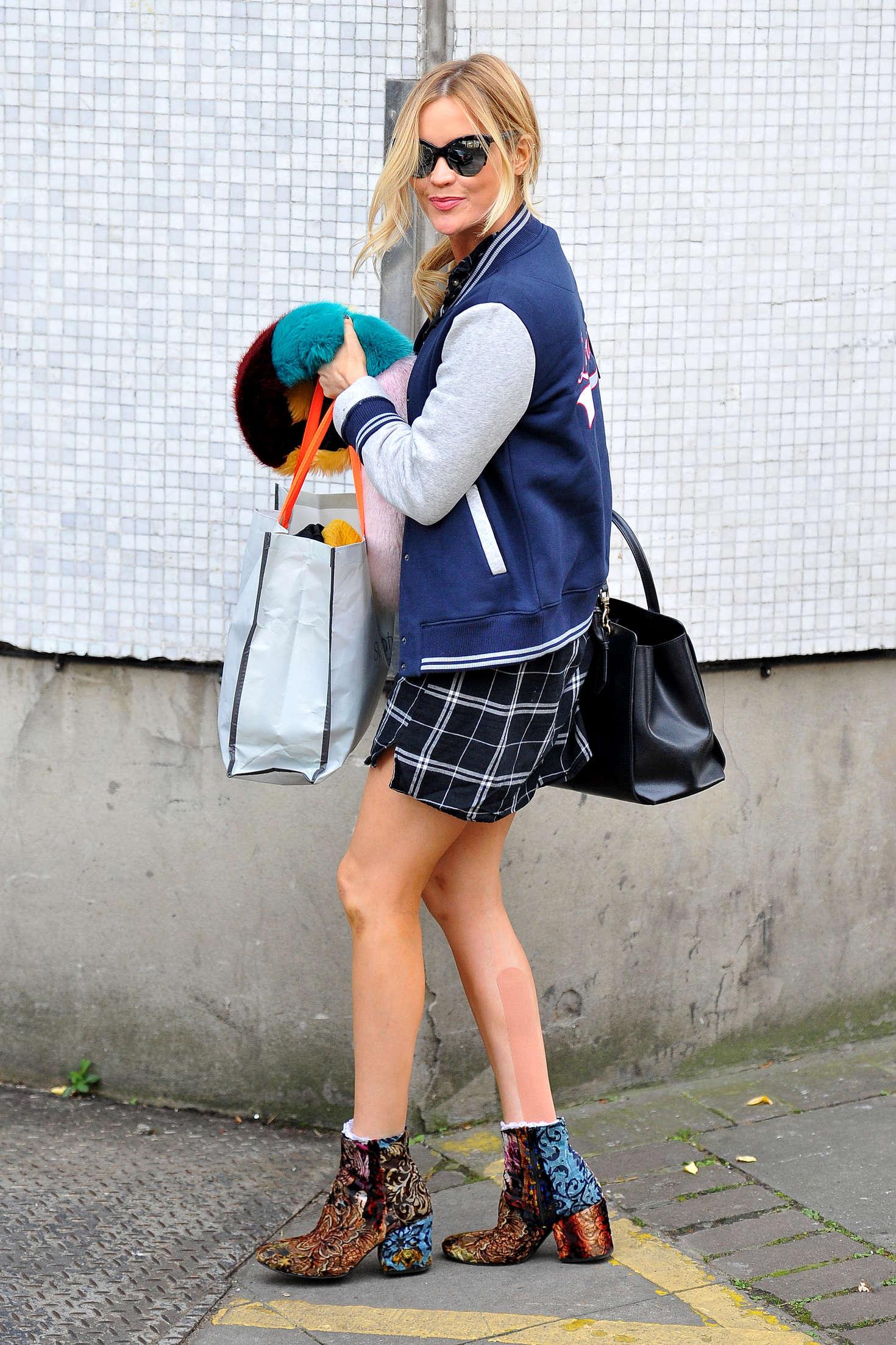 Laura Whitmore in Mini Dress at ITV Studios in London