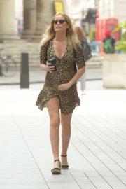 Laura Whitmore in Mini Dress - BBC Radio Five Live Studios in London