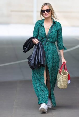 Laura Whitmore - In split dress at BBC studios in London