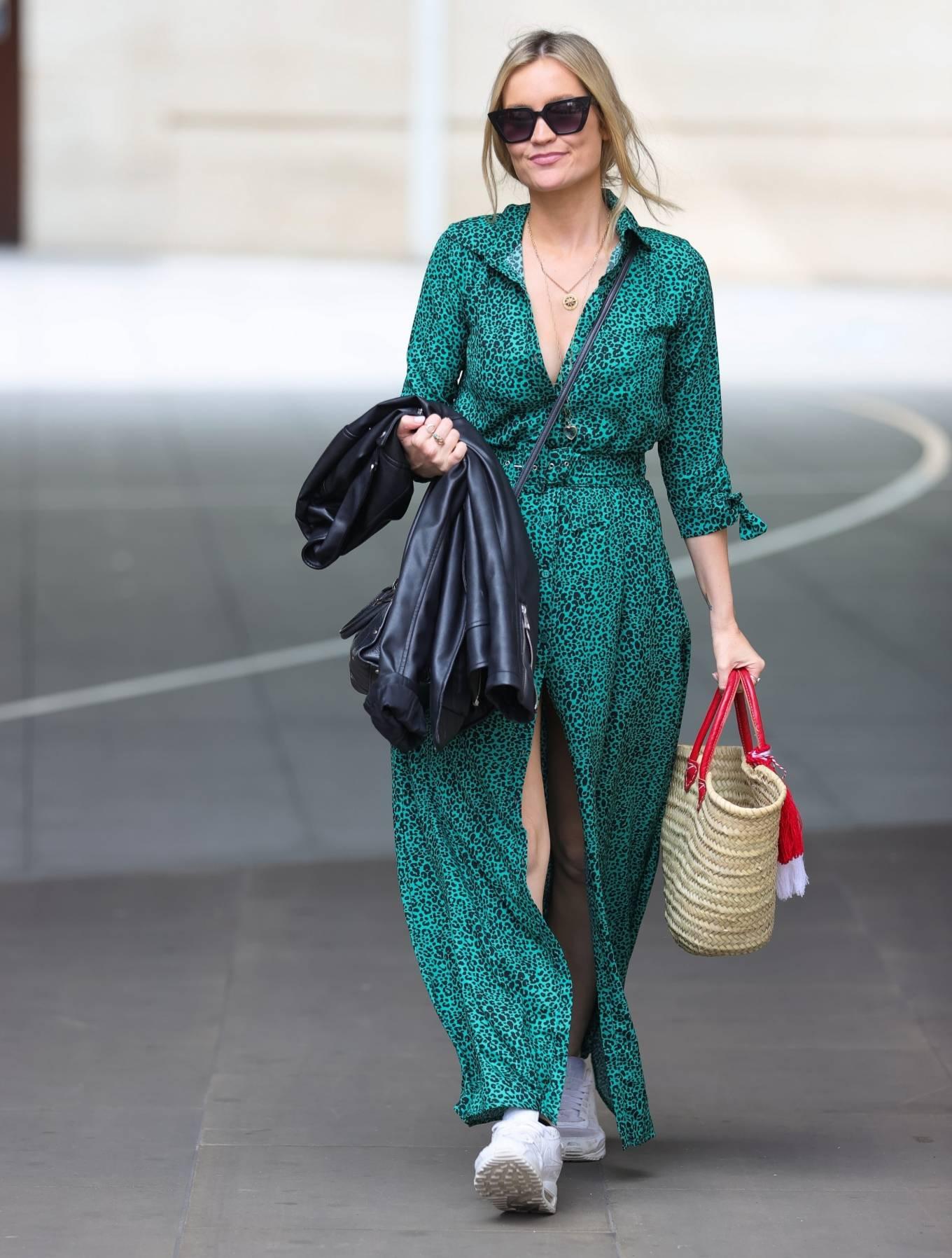 Laura Whitmore - In split dress at BBC studios in London