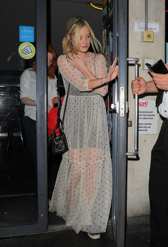 Laura Whitmore - Leaves The Soho Theatre in London