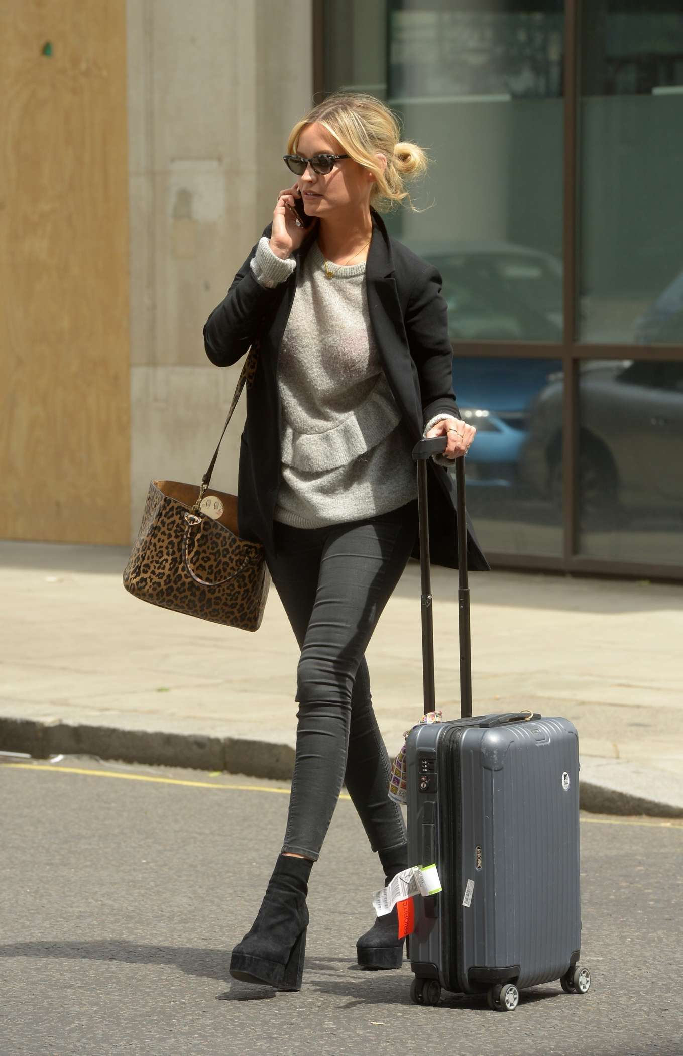 Laura Whitmore - Leaving BBC Broadcasting House in London