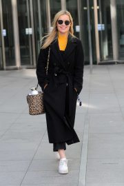 Laura Whitmore - Leaving BBC Radio 5 Studios in London