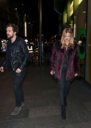 Laura Whitmore - Leaving Davina McCall's birthday Party in London