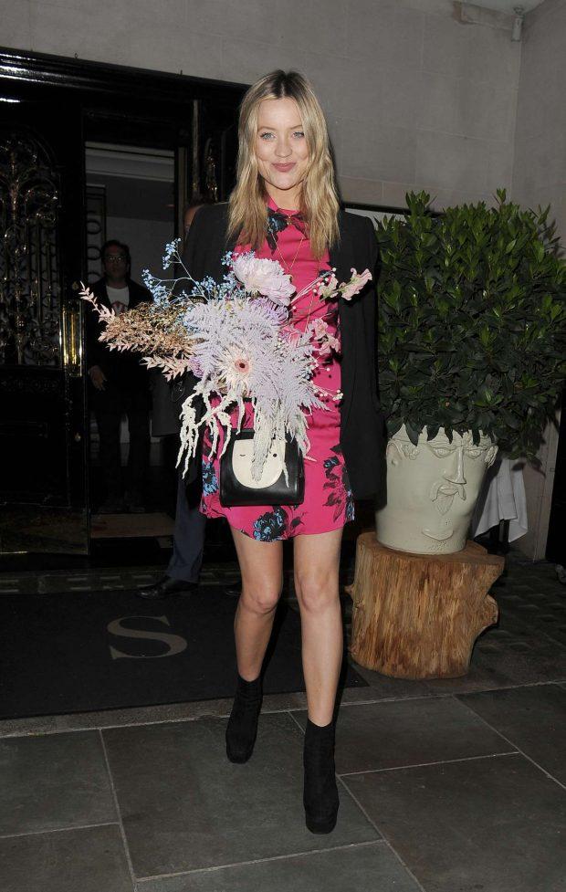 Laura Whitmore - Leaving Scotts Restaurant in Mayfair