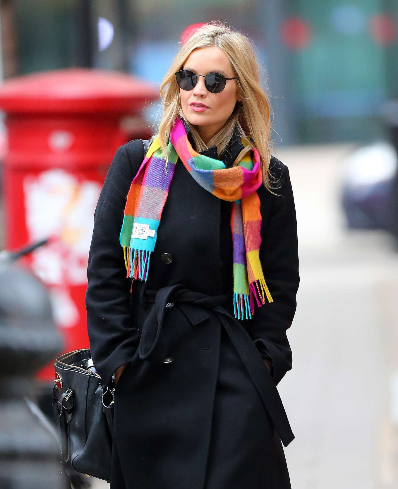 Laura Whitmore - Leaving the BBC studios in London