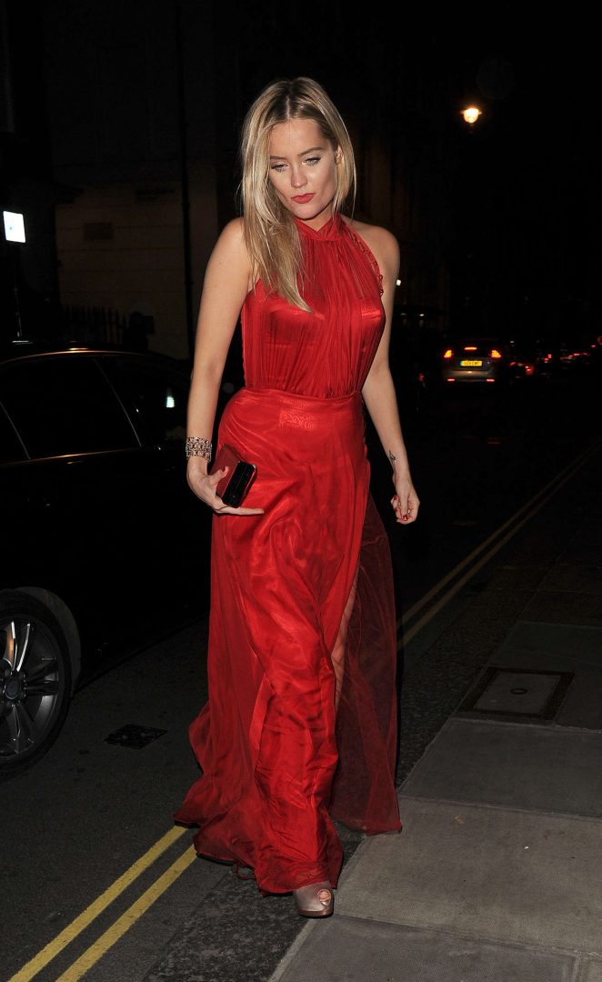 Laura Whitmore - Leaving the Groucho Club in Soho