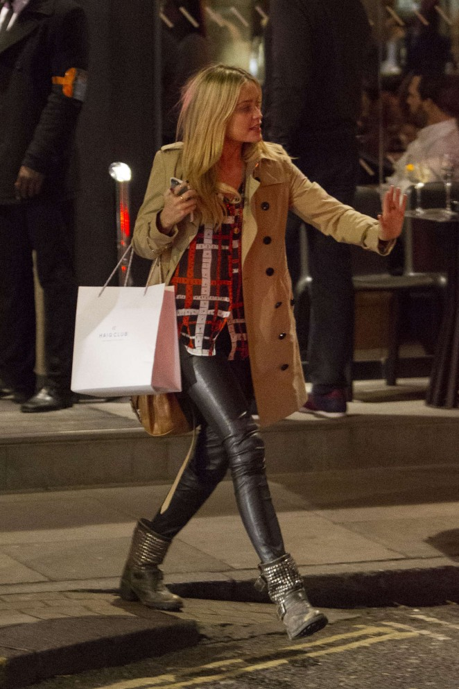Laura Whitmore - Night out in London