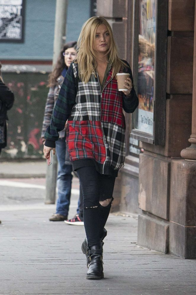 Laura Whitmore out and about in Edinburgh