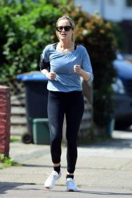 Laura Whitmore - Out foa a jogging in London
