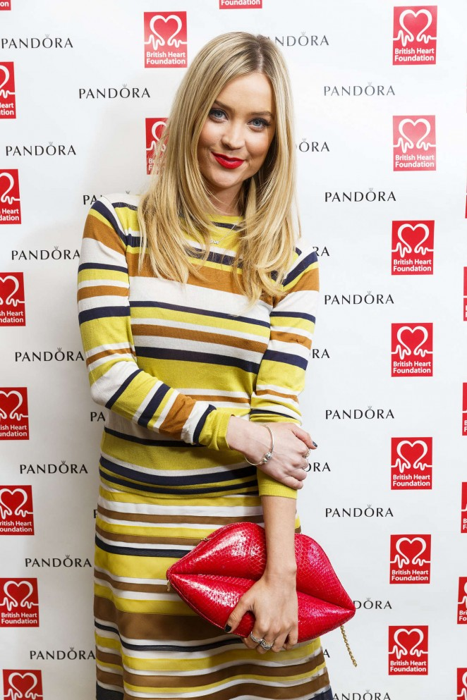 Laura Whitmore – PANDORA & BHF Afternoon Tea in London