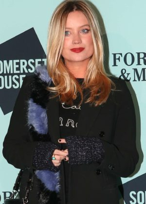 Laura Whitmore - Skate at Somerset House Lunch Party in London