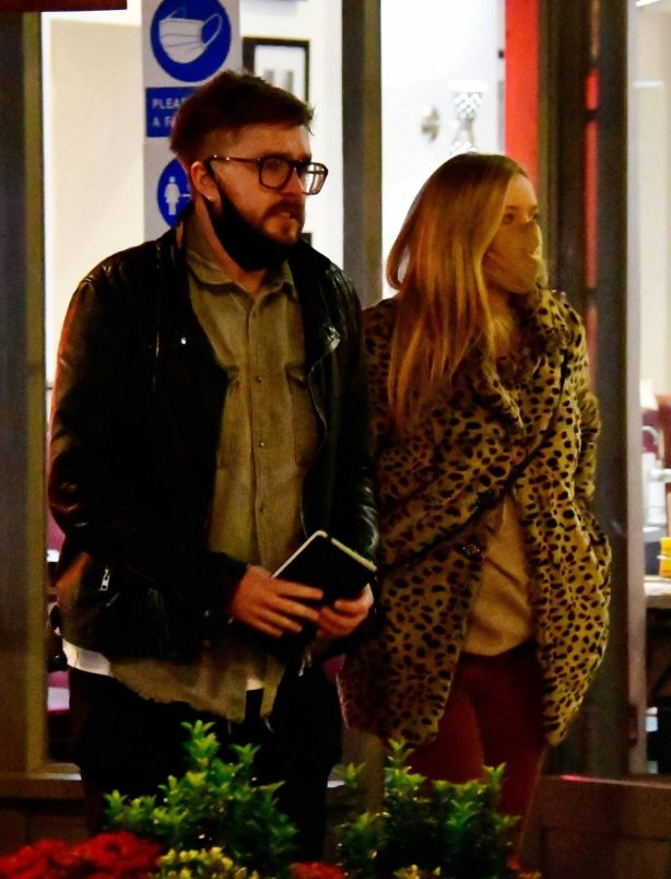 Laura Whitmore - With her boyfriend Iain Stirling in London