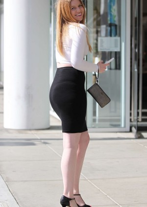 Lauren Ashley in Tight Skirt out in Beverly Hills