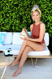 Lauren Bushnell in Swimsuit at the Neutrogena Hydro Boost Haus in Palm Springs