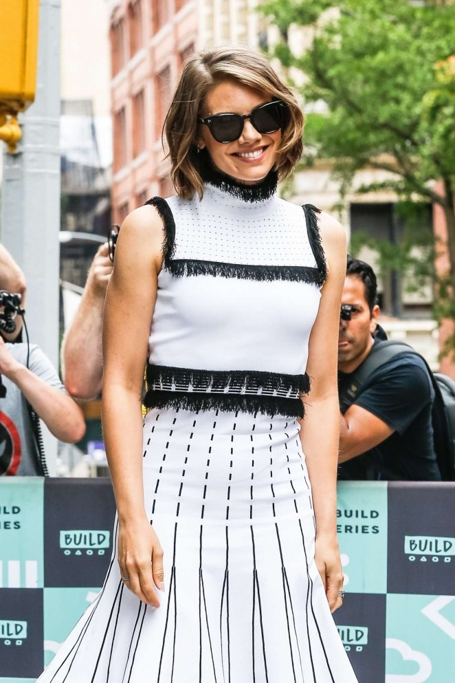 Lauren Cohan - Arrives at AOL Build Series in NYC