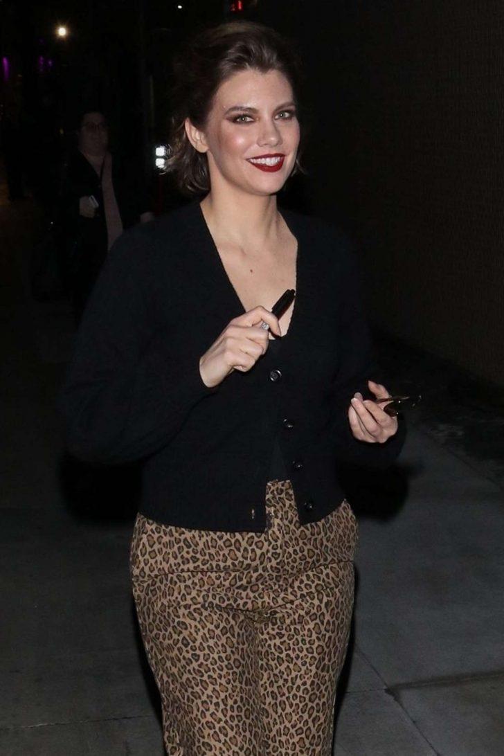 Lauren Cohan - Arrives at 'Jimmy Kimmel Live' in Los Angeles