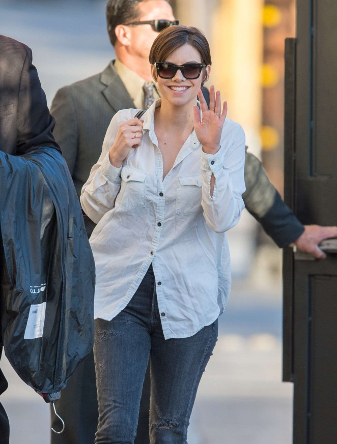 Lauren Cohan - Arriving at 'Jimmy Kimmel Live' in LA