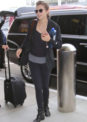 Lauren Cohan at LAX Airport in LA
