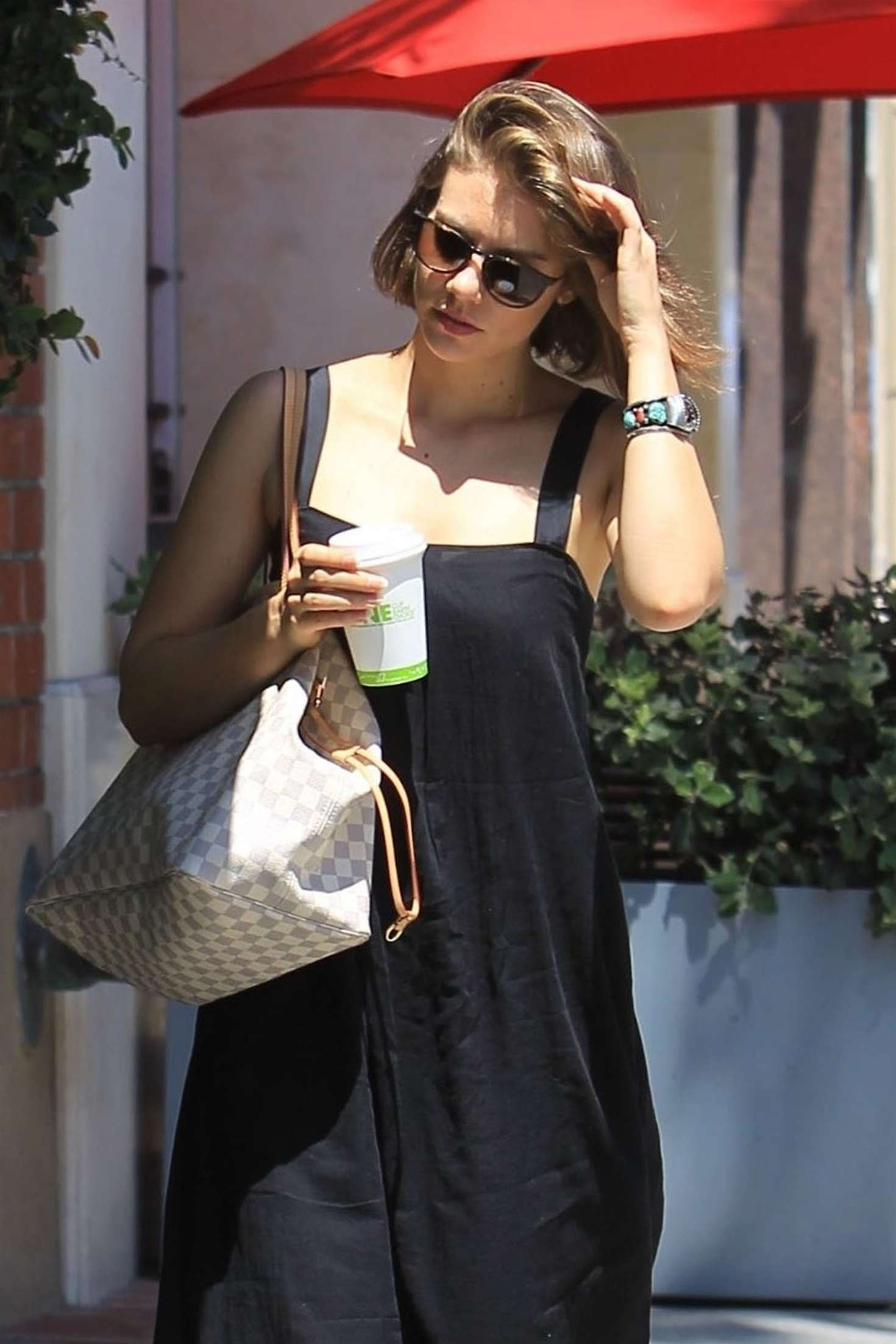 Lauren Cohan - Heads to a nail salon in Beverly Hills