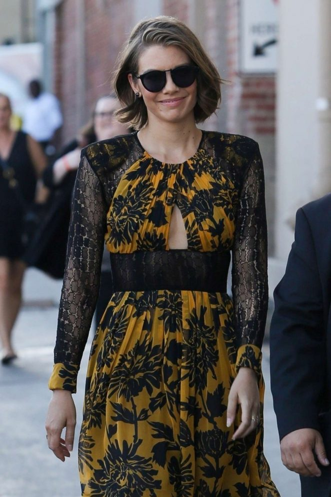 Lauren Cohan - Leaves 'Jimmy Kimmel Live' in Los Angeles