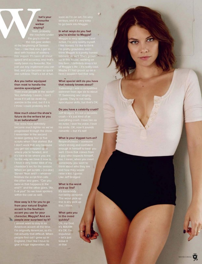 Lauren Cohan - Maxim Australia (January 2014)