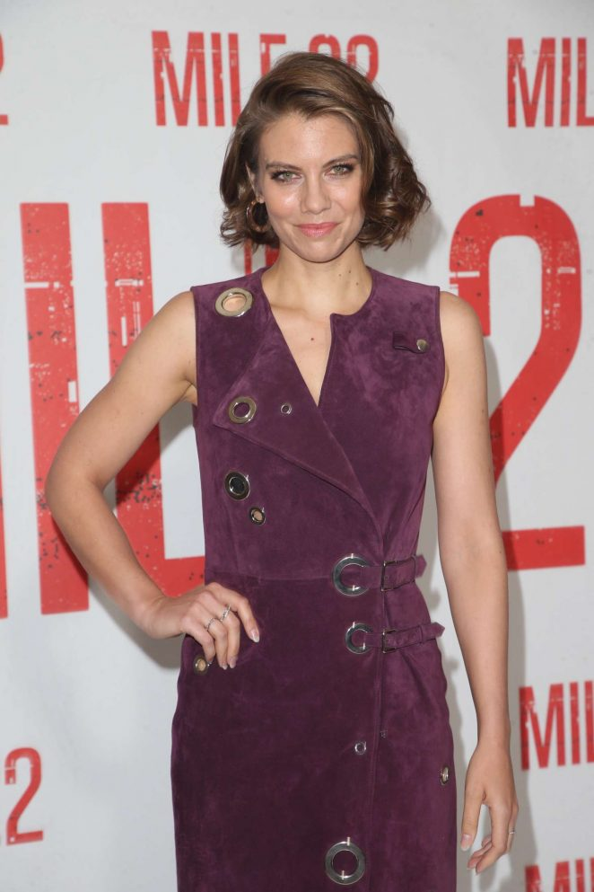 Lauren Cohan - 'Mile 22' Photocall in Los Angeles