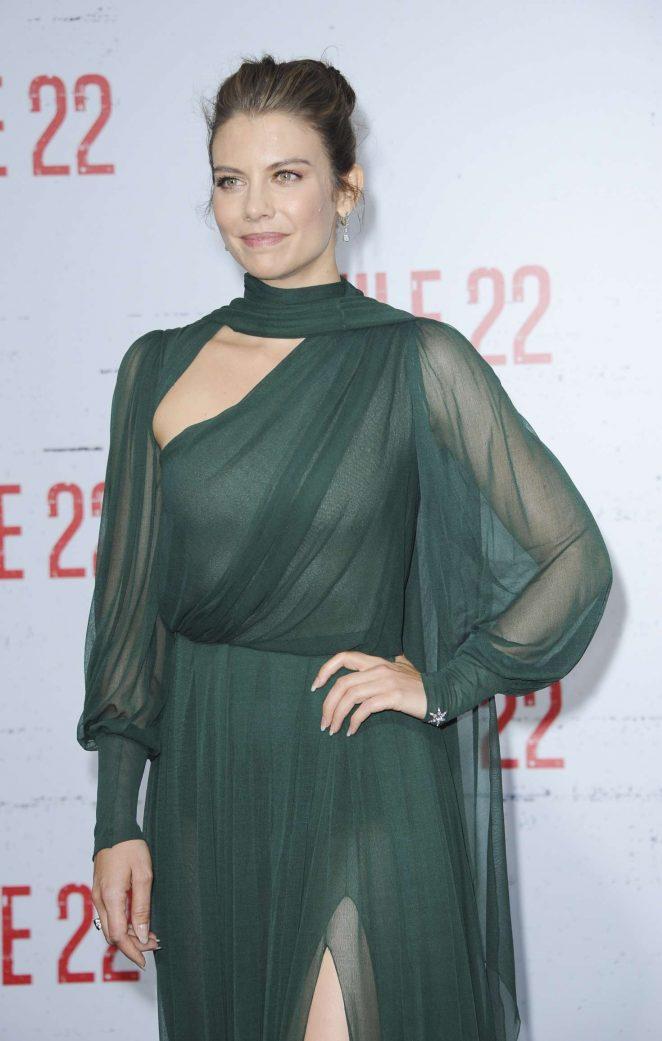Lauren Cohan - 'Mile 22' Premiere in Los Angeles