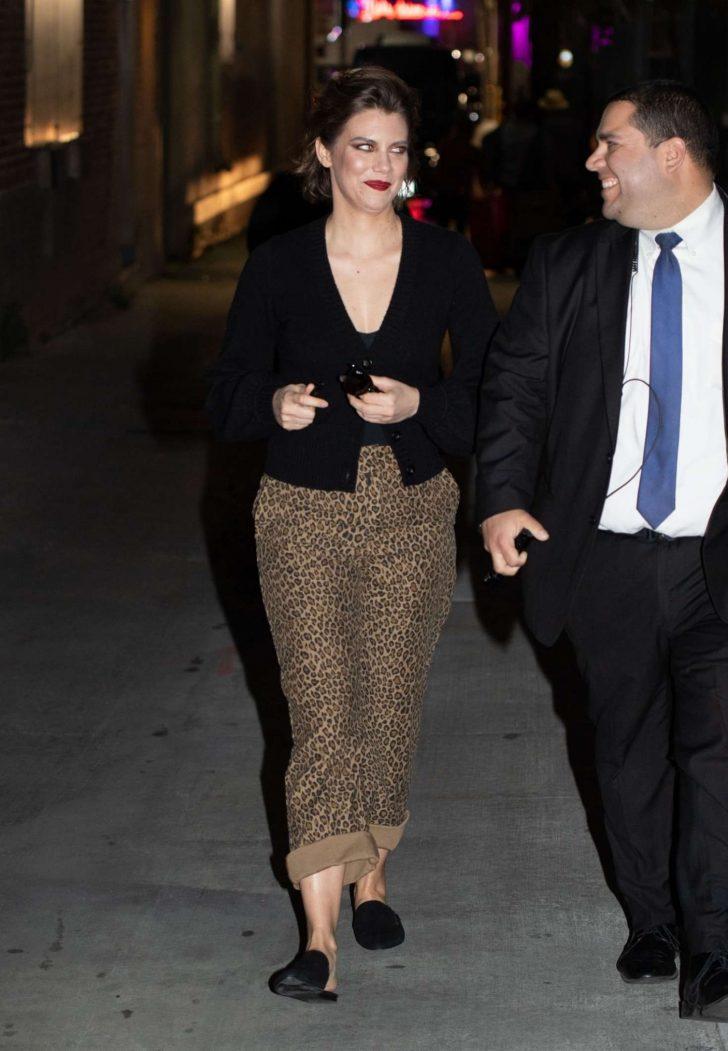 Lauren Cohan - Outside'Jimmy Kimmel Live!' in Los Angeles
