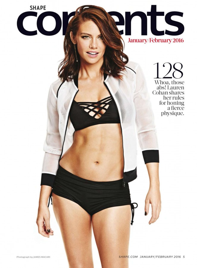 Lauren Cohan - Shape magazine (January - February 2016)