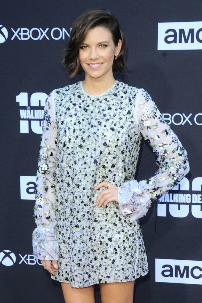 Lauren Cohan - 'The Walking Dead' 100th Episode Premiere and Party in LA