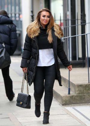 Lauren Goodger - Filming 'Posh Pawn' in London