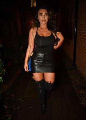 Lauren Goodger in Mini Dress - Night Out in Essex