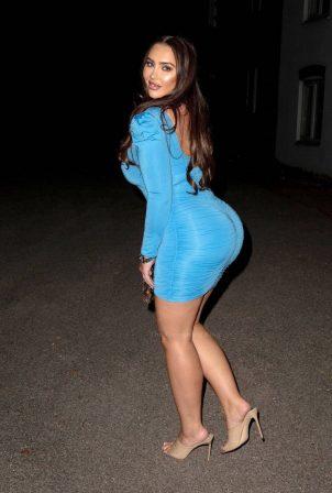 Lauren Goodger - In tight dress leaving Roka restaurant in Canary Wharf