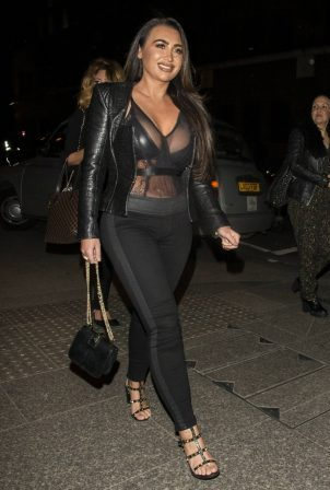 Lauren Goodger - Night out at OK Magazine's 25th Anniversary Party at the Shard in London