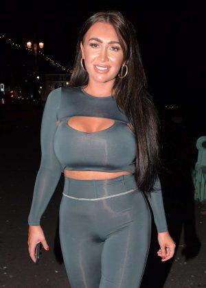 Lauren Goodger night out in Brighton