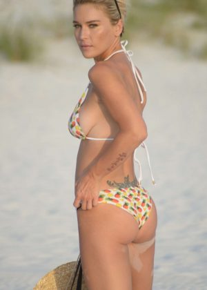 Lauren Hubbard in Bikini - Commercial Photoshoot on Clearwater Beach