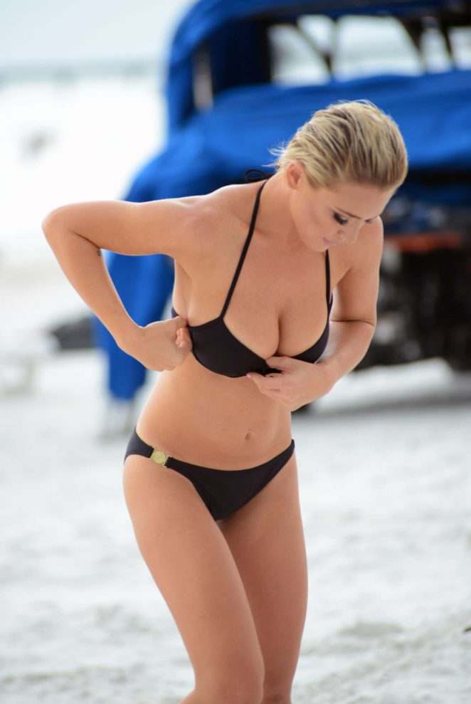 Lauren Hubbard in Black Bikini in Miami Beach