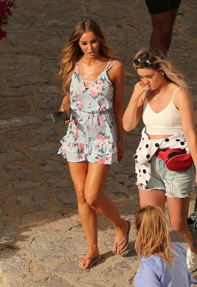 Lauren Pope and Chloe Lewis on a Photoshoot in Ibiza