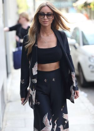 Lauren Pope Arrives at AOL Build in London