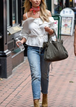 Lauren Pope in Tight Jeans out in Birmingham
