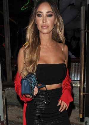 Lauren Pope - Leaving Sexy Fish Restaurant in Mayfair