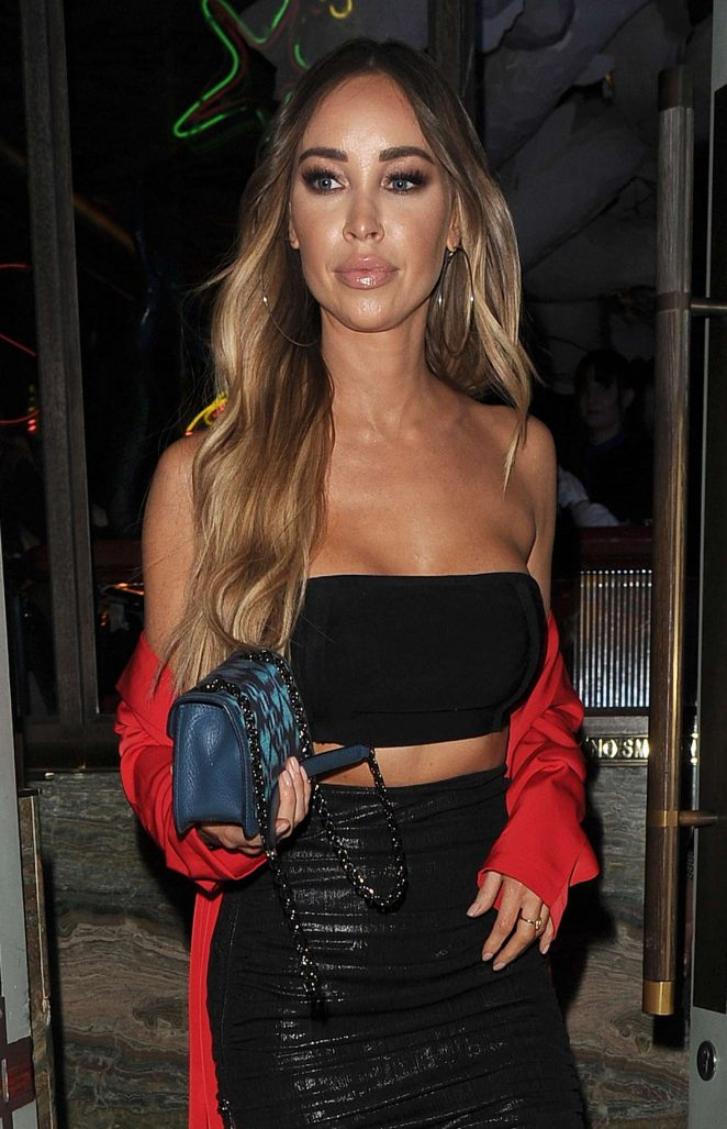 Lauren Pope – Leaving Sexy Fish Restaurant in Mayfair