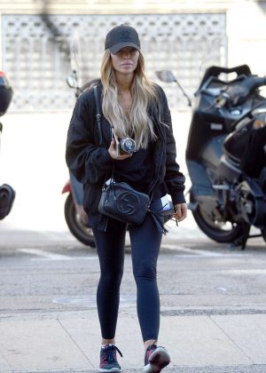 Lauren Pope went to a gym in Barcelona