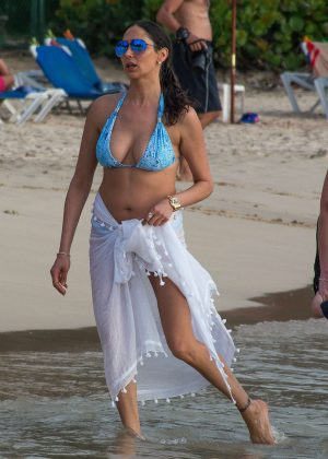 Lauren Silverman in Bikini on the beach in Bridgetown