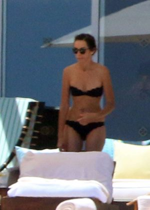 Lauren Silverman in Black Bikini in Los Cabos