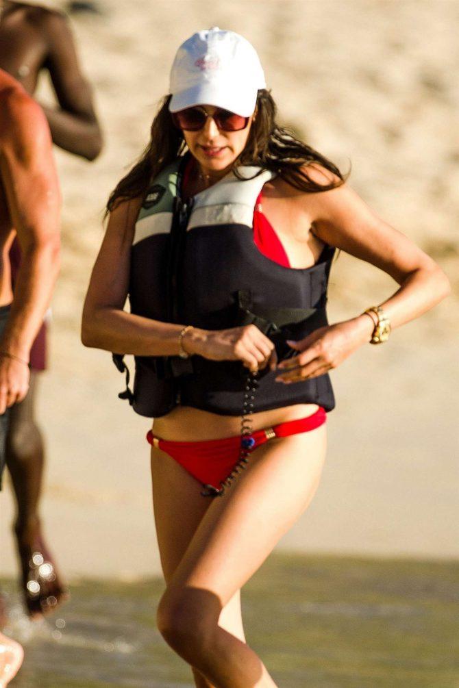 Lauren Silverman in Red Bikini - Jet ski riding in Barbados