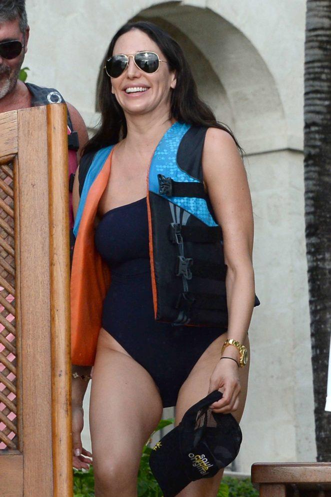 Lauren Silverman in Swimsuit on a Jet ski in Barbados