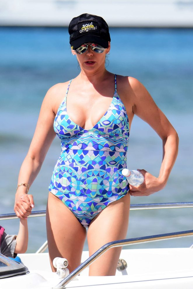 Lauren Silverman in swimsuits on holiday in Barbados