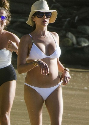 Lauren Silverman in White Bikini in Barbados